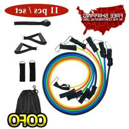 Resistance Bands Workout Bands with Bag Metal Clips Handles