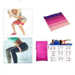 Resistance Bands Workout Loop Set 5 Legs Exercise Cross For