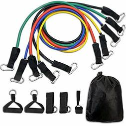 Resistance Bands Workout Tube Fitness Exercise Set Pull Stre