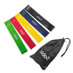 Sable Resistance Exercise Bands for Women Men, Set of 5 with