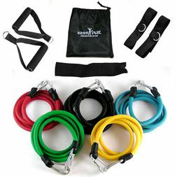 JS Fitness Resistance Exercise Bands Set-Workout Arms, Legs,