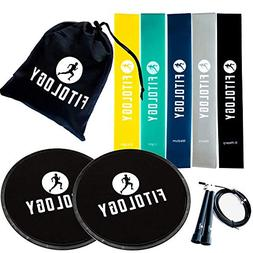 Resistance Bands & Core Sliders Set | Quality Resistance Loo