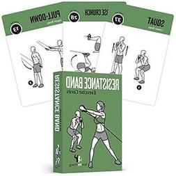 resistance fitness planners band tube exercise cards