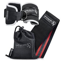 Resistance Hip Band and Ankle Straps for Cable Machines Set: