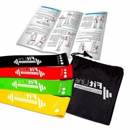 Resistance Loop Band Set Of 4 Exercise Workout Fitness Yoga