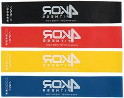 Set of 4 Resistance Loop Bands by 4KOR Fitness  for CrossFit