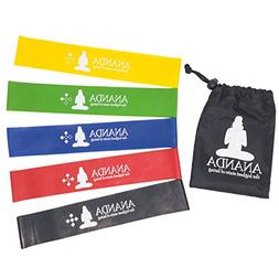 Ananda Resistance Loop Bands By, 5 Pack With Carry Bag. 12 x
