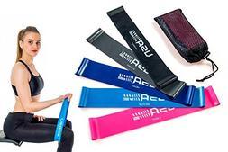 USA Fitness Elite Resistance Loop Bands Set of 5 Color Coded