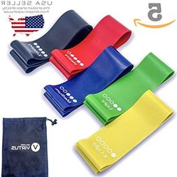 Resistance Loop Bands Set of 5 Exercise Bands for Legs Butt