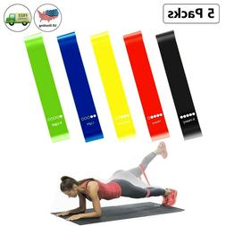 Resistance Loop Bands, Exercise Bands for Home Fitness 5 Pcs