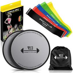 E LV Resistance Loop Bands and Exercise Sliders Set Home & P