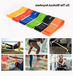 Resistance Loop Bands Home Fitness Outdoor Yoga Full Body Wo