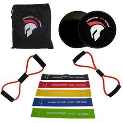 Spartan Core Performance Resistance loop bands  PLUS two 8 f