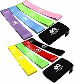 Resistance Loop Bands - Set of 4 Fitness Elastic Bands for W
