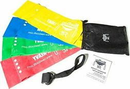 NeeBooFit Resistance Physical Therapy Band Set - Best Flat