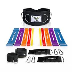 The x Bands Resistance Band Set with Weightlifting Fitness B