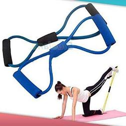 Resistance Training Bands Rope Tube Workout Exercise for Yog