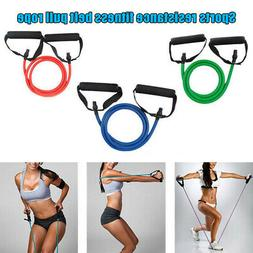 Resistance Tubes Bands Workout Exercise Fitness Train Loop S