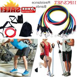 Resistance Tubes Bands Workout Exercise Fitness Train Elasti