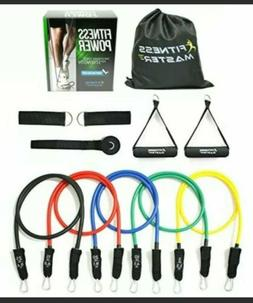 Resistance Workout Bands Exercise Fitness Set Yoga Pilates T