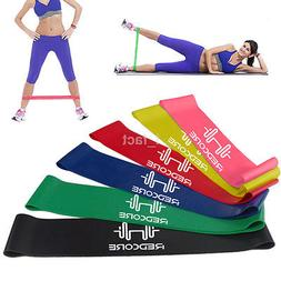 rubber resistance bands fitness workout elastic training