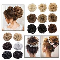 scrunchy updo hair extension wavy
