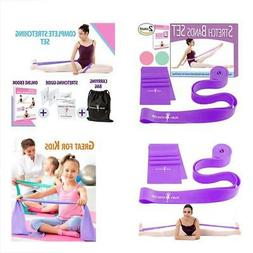 Set Ballet Equipment Of 2 Stretch Bands For Exercise Kids Ad