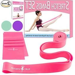 Set Ballet Equipment Of 2 Stretch Bands For Exercise Kids &