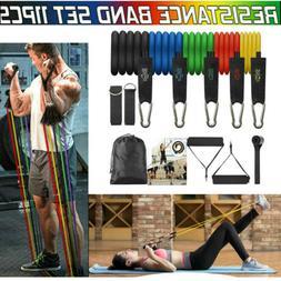 Set of 11 pcs Resistance Band Loop Set Yoga Pilates Exercise