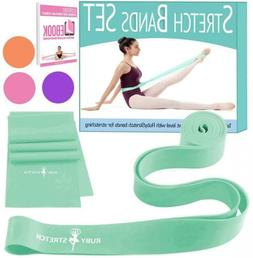 Set of 2 Stretch Bands for Exercise Kids & Adults + Gift Box