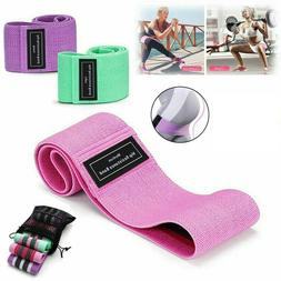 Set of 3 Cloth Resistance Booty Band Exercise Workout Fitnes