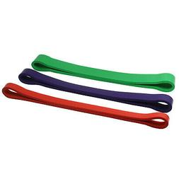 Set of 3 Heavy Duty Resistance Band Loop Exercise Yoga Worko