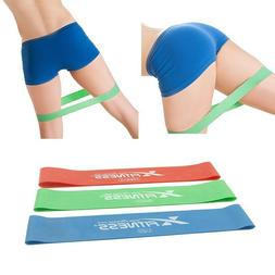 Set of 3 Resistance Loop Bands Yoga Crossfit Fitness Pilates
