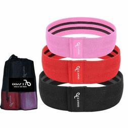 set of 3 resistance loop bands yoga