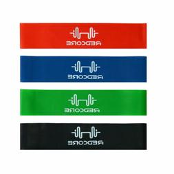 Set of 4 Resistance Bands Loop Workout Exercise Elastic Yoga