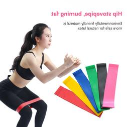 Set of 6 Exercise Resistance Loop Bands Mini Band Fitness Eq