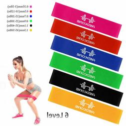 6Pcs Resistance Bands Loop Set Home Yoga Exercise Leg Abs Wo