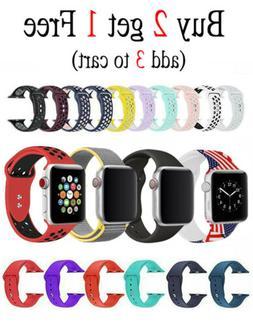 Silicone Nylon Bracelet Band Strap Sports Bands For Apple Wa