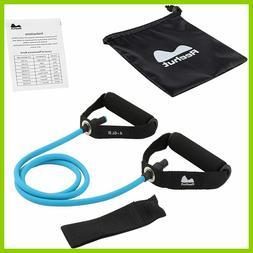 Single Resistance Band, Exercise Tube - Home Workouts 4-6 lb