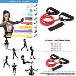 single resistance band exercise tube w handle