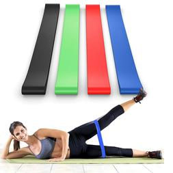 Snap-Proof Resistance Bands Loop Set of 4 bands for Women an