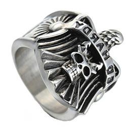 MoAndy Stainless Steel Jewelry Stainless Steel Ring Men Wedd