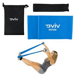 Straight Workout Bands by Vive  - Resistance Exercise Equipm