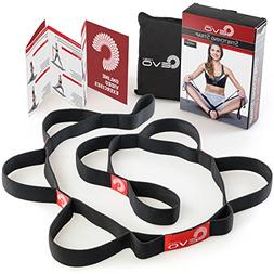 Stretching Strap with 10 Elastic Loops + eBook & 35 Online S