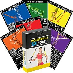 Suspension Exercise Cards by Stack 52. For TRX, Woss, and Ri