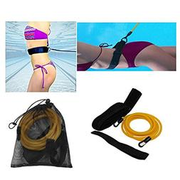 CHICTRY Swim Training Belt Swimming Resistance Cord Safe Lea