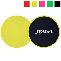 Synergee Yellow Gliding Discs - Core Sliders - Dual Sided Us