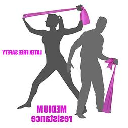 MEDIUM TENSION EXERCISE RESISTANCE BANDS - Home Gym Fitness