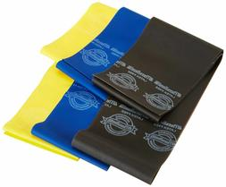 Thera-Band LATEX-FREE Resistance Bands, Yellow/Blue/Black Fr