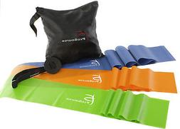 Prosource Fit Therapy Flat Resistance Bands Set of 3  for St